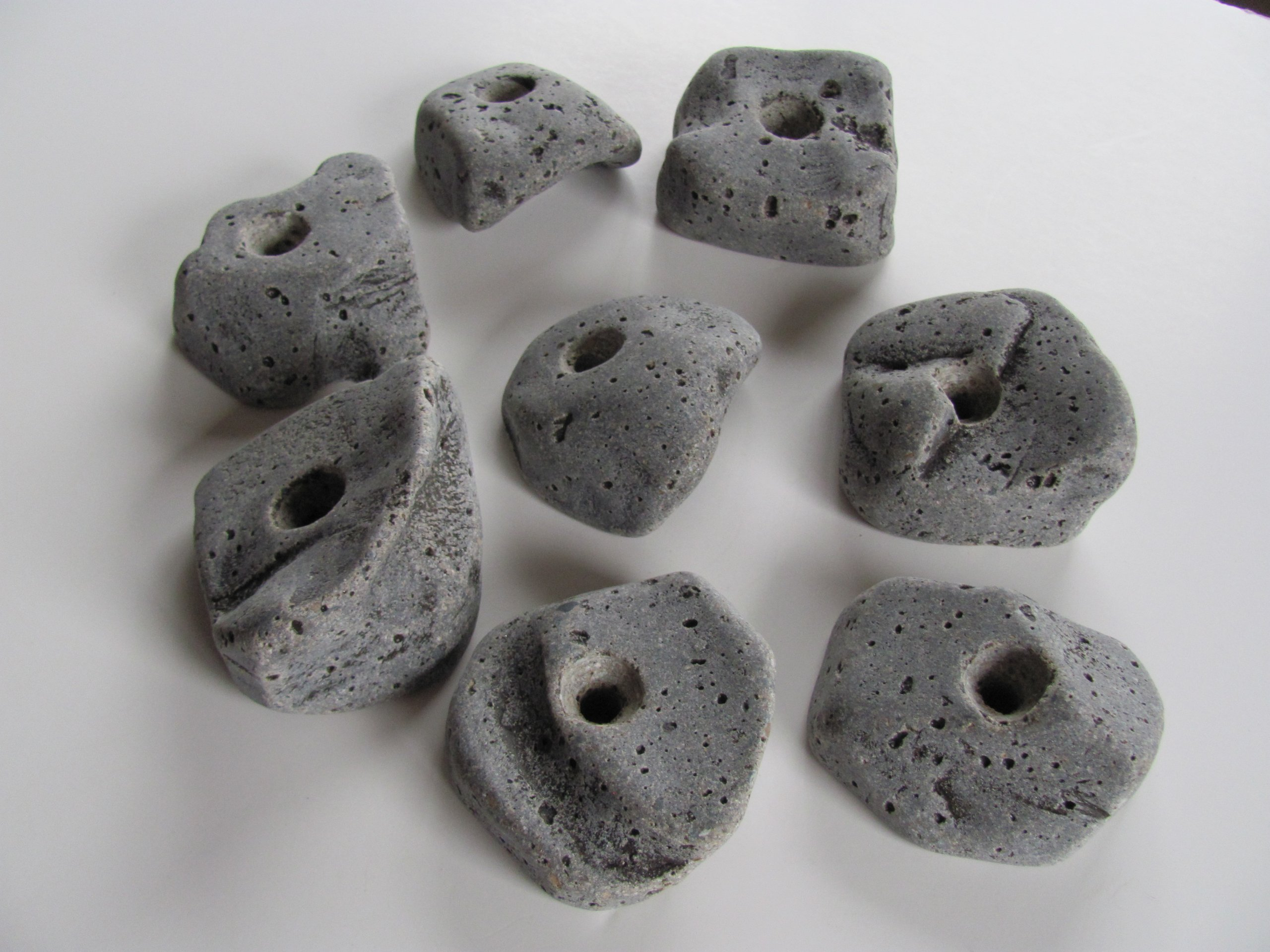 50 Large Kids Bolt on Rock Climbing Holds WITH hardware. Made in the U.S.A
