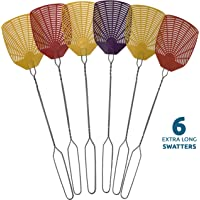 """W4W Bug & Fly Swatter €"""" Extra Long Handle 6 Pack Fly Swatters €"""" Indoor/Outdoor €"""" Pest Control flyswatter"""