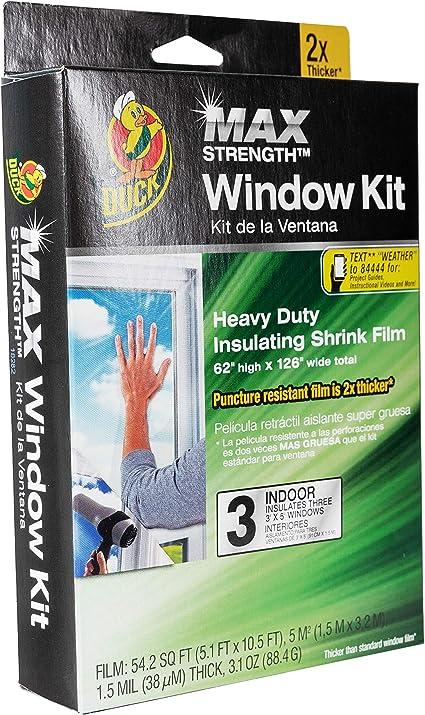 "Duck Max Strength Roll-On Window Kit Heavy Duty Insulating Shrink Film 62""x120"""