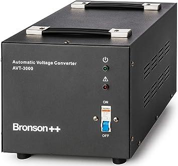 Bronson++ AVT 3000 - Transformador de 110/120 Voltios Convertidor de Voltaje EE.UU.: Amazon.es: Electrónica