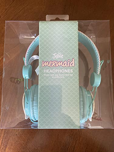 Justice Mermaid Headphones with Seashells Over-Ear