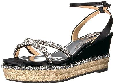 208c16f6c4e Amazon.com  Badgley Mischka Women s Silvie Espadrille Wedge Sandal ...