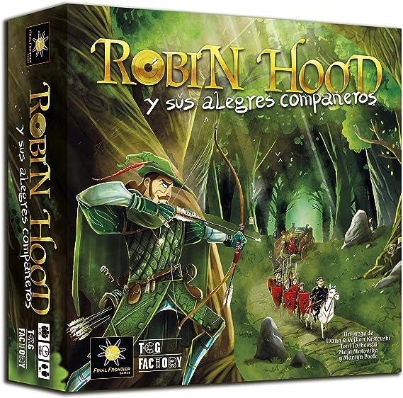 TCG Factory ROBIN HOOD Y SUS ALEGRES COMPAÑEROS Juego de mesa en español de estrategia y cooperativo para 1 a 5 jugadores: Amazon.es: Juguetes y juegos