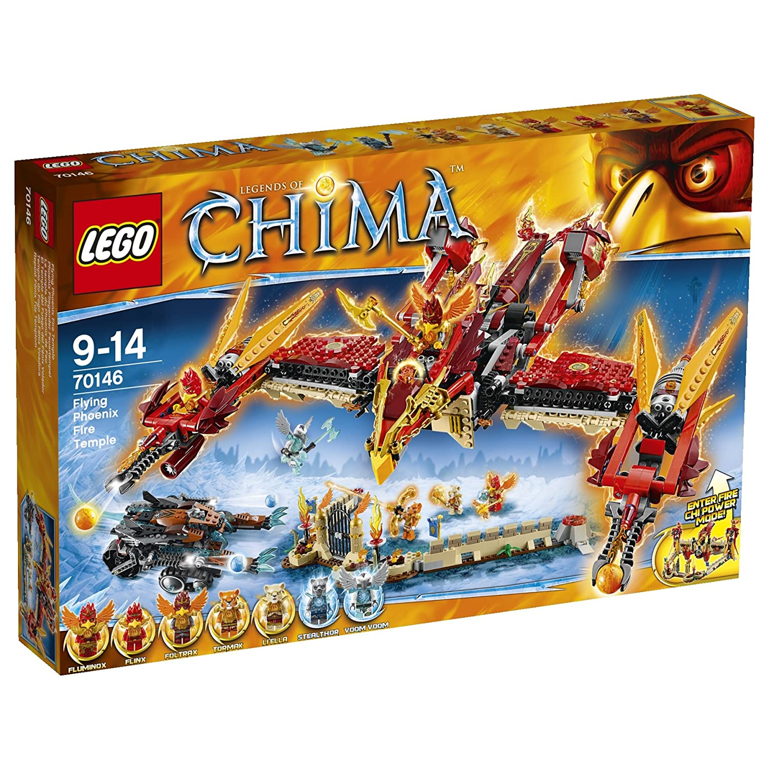 Amazon chima party supplies - Amazon Com Lego Legends Of Chima Flying Phoenix Fire Temple Kids Building Play Set 70146 Toys Games