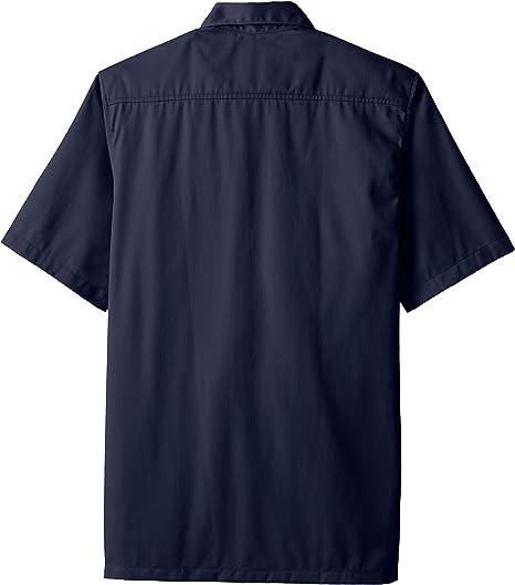 Carhartt Hombres de Sarga de Manga Corta Camisa de Trabajo botón ...