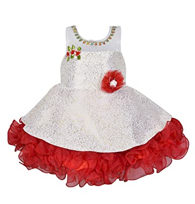 ac8ffb77a Wish Karo Baby Girls Party Wear Frock Dress DN (fe2445blu)  Amazon ...