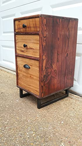 best sneakers 73e48 fa972 Amazon.com: Rustic Wood Filing Cabinet: Handmade