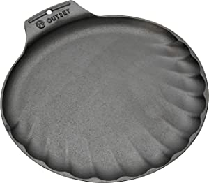 Outset 76378 Scallop Cast Iron Grill and Serving Pan