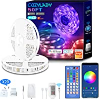 Cozylady Alexa LED Strip Lights 15M - Smart LED Light Strips Compatible with Alexa, Google Home Controlled by APP…