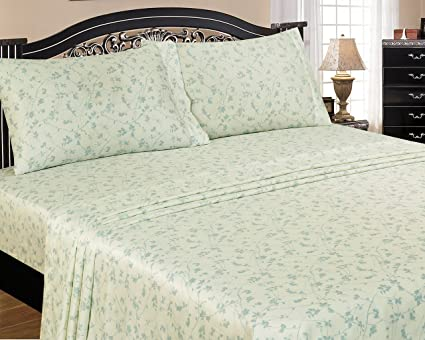 American Homes 400 Thread Count Nouveau Damask Sheet Set King Taupe