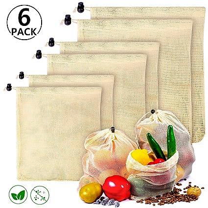 PAMIYO - Bolsas para Frutas y Verduras, de algodón ...