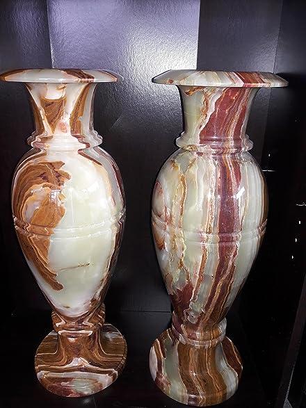 Amazon 8x24 Onyx Marble Vases 2 Home Kitchen