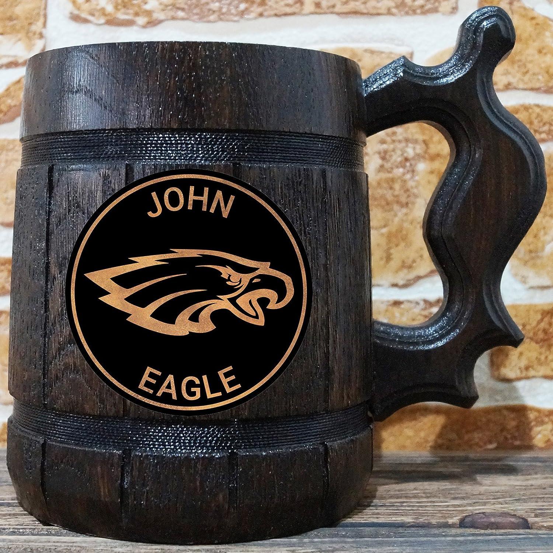 on sale d30c7 34b54 Amazon.com: Philadelphia Eagles Beer Mug, American Football ...