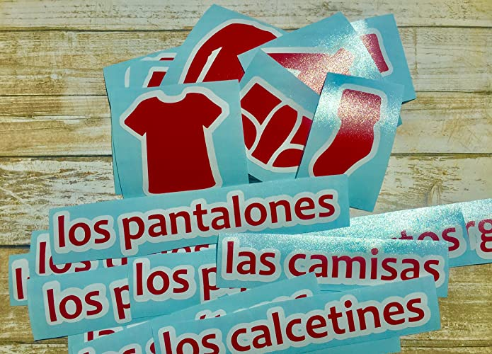 Amazoncom Spanish Or French Dresser Labels For Boys Chest Of
