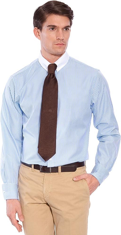 Hackett Camisa Rayas Blanco/Azul 41: Amazon.es: Ropa y accesorios