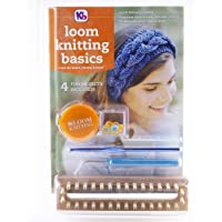 Authentic Knitting Board Knitting Reference Guide/Tool Kit, with 32 peg Wood Loom