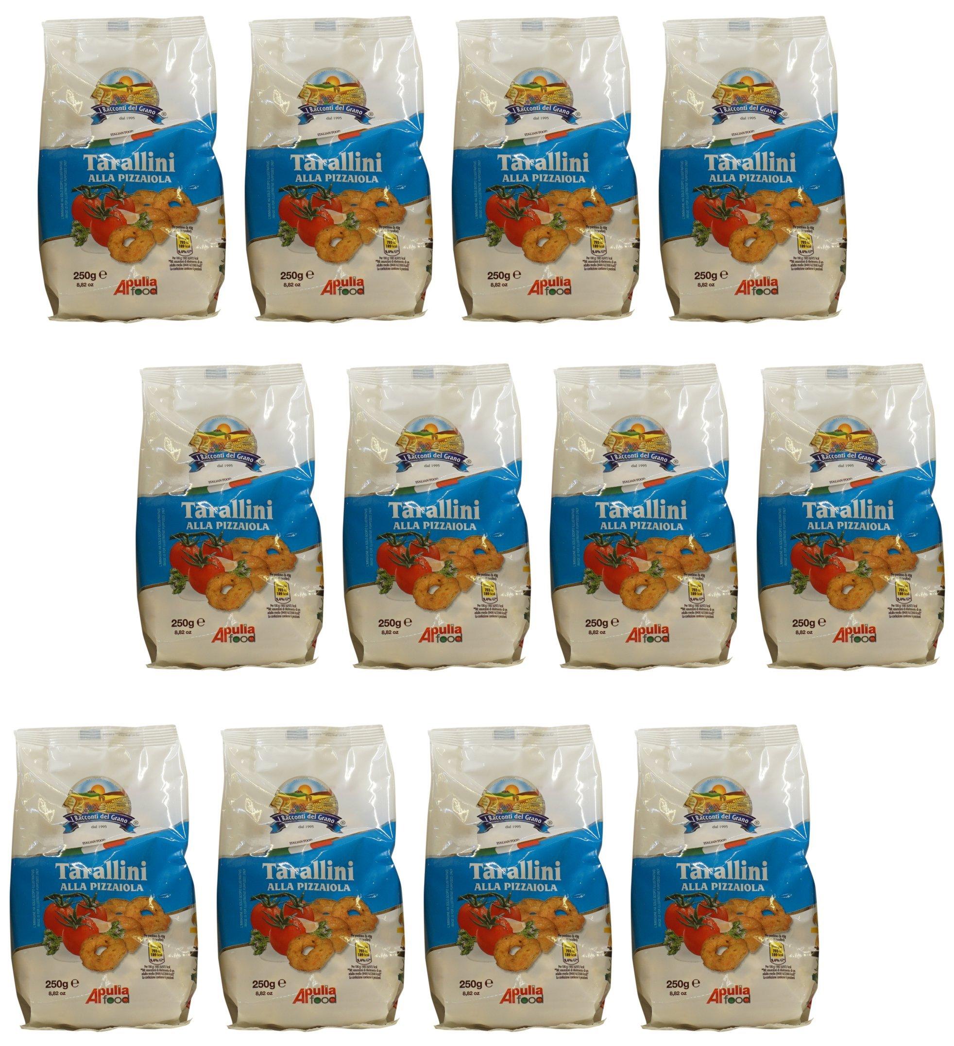 I Racconti del Grano: ''Tarallini alla Pizzaiola '' 8.82Ounce (250gr) Package (Pack of 12) [ Italian Import ]