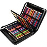 YOUSHARES 180 Slots PU Leather Colored Pencil Case - Large Capacity Carrying Case for Prismacolor Watercolor Pencils…