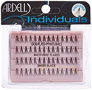 Ardell DuraLash Naturals Flare Individual Lashes, Short Black 56 ea (Pack of 2)