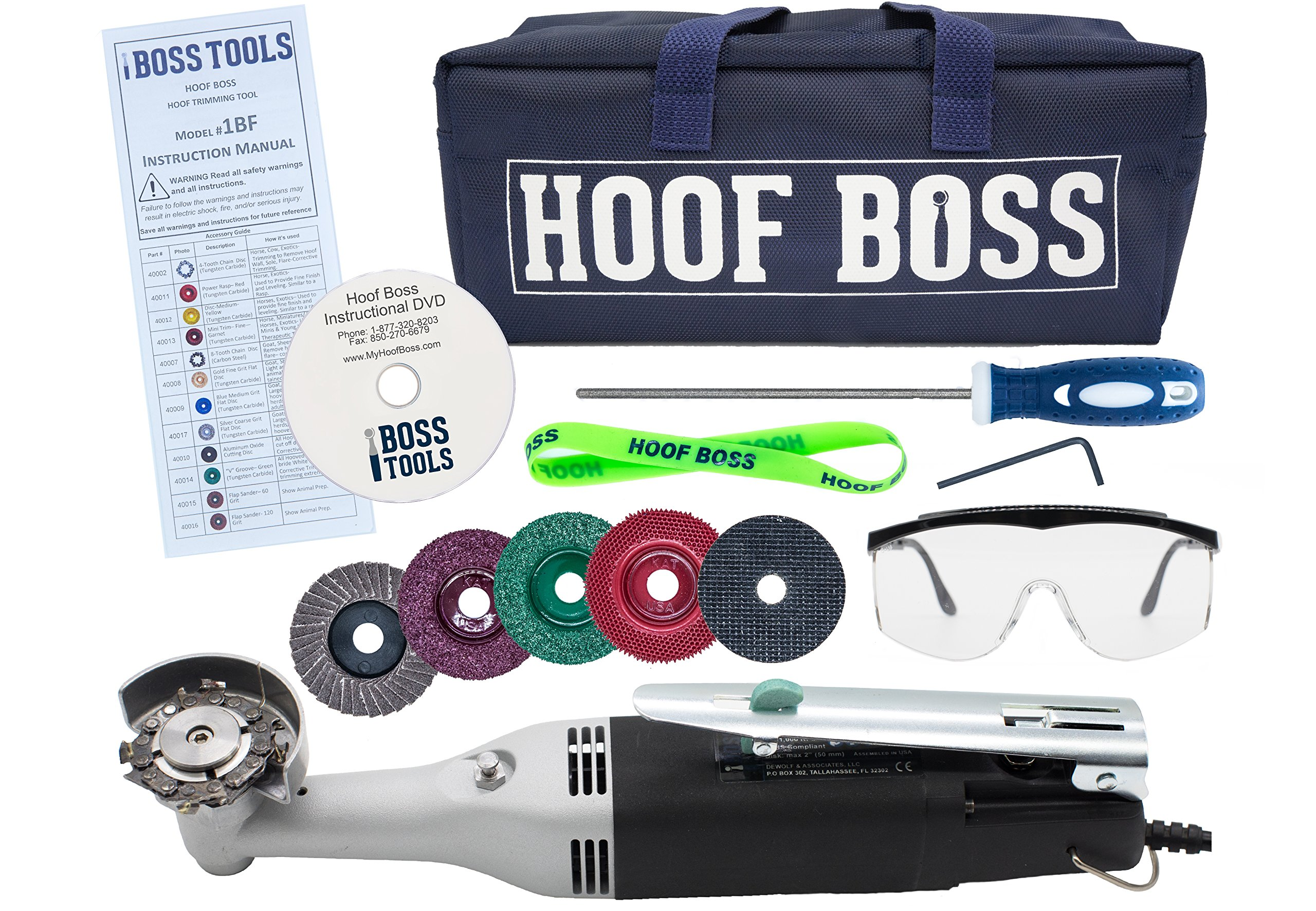 Complete Horse Hoof Care Set/ Trimmer Set 110v US by Hoof Boss