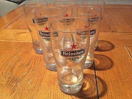 6vasos de cerveza Heineken ...