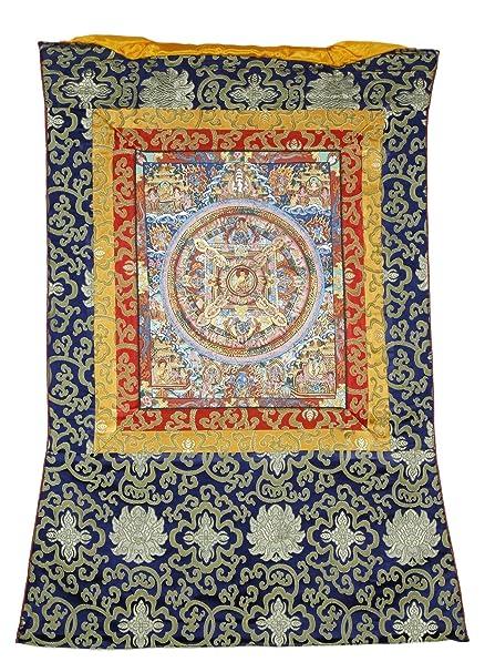 indio Mandala de pared – Alfombra de seda que cuelgan de toallas de ruedas de sintética