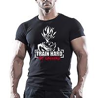 Goku Train rigide dessus Motivation T-shirt de musculation