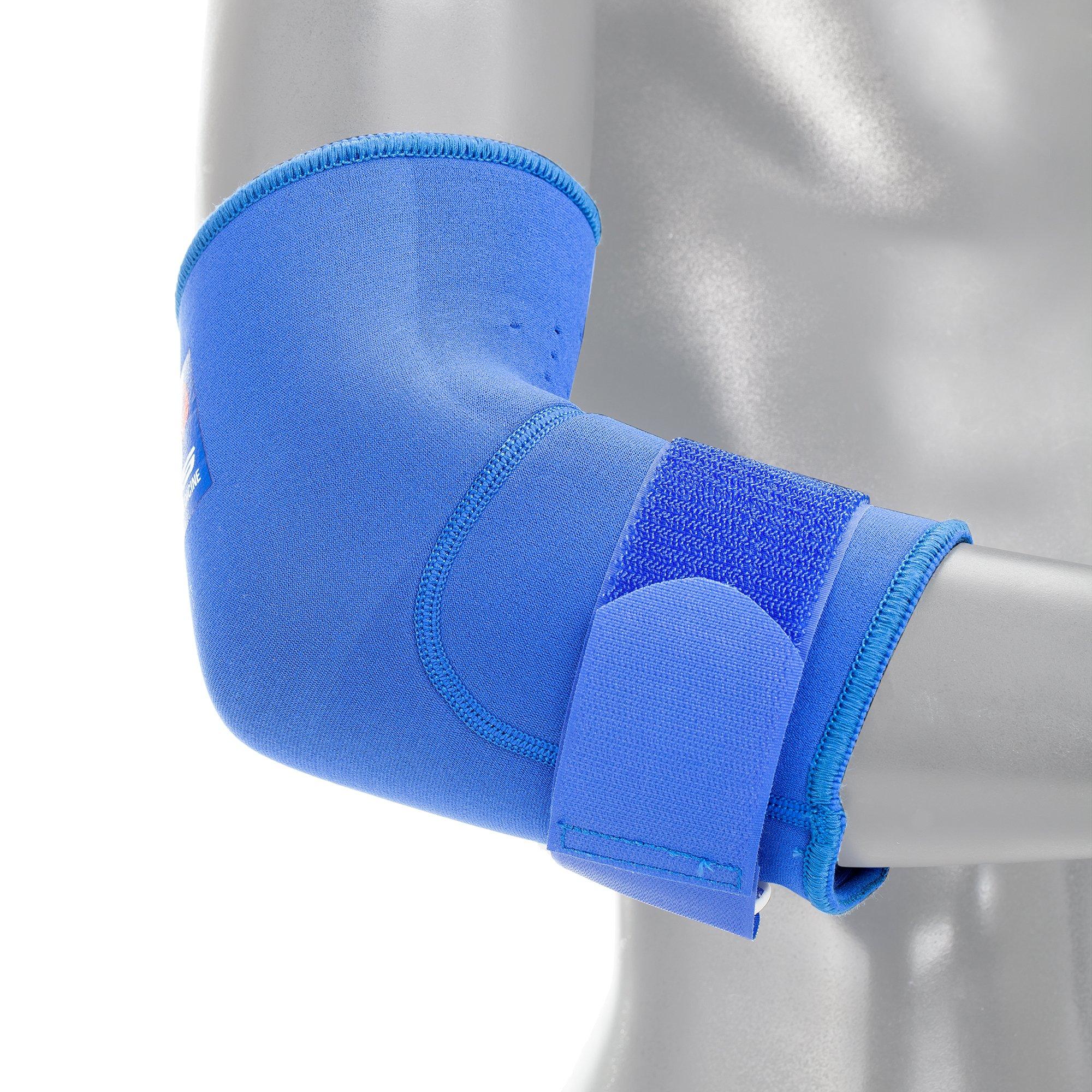 EVS Sports Unisex-Adult Neoprene Elbow Stabilizer (Blue, Medium)