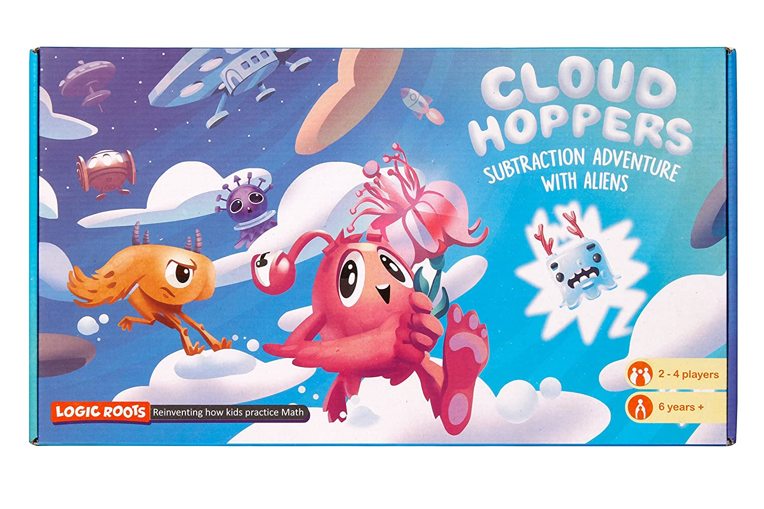 CLOUD HOPPER Addition and Subtraction board game STEM toy Maths ...