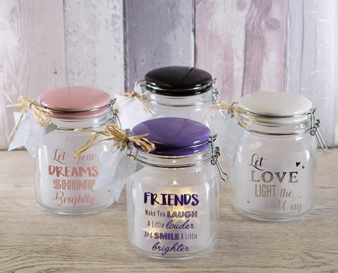 Love Life Light Up Sentiment Jar