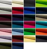 Fabrics-City - Tessuto di cotone al metro di alta qualità, elastico, 4356 bordeaux