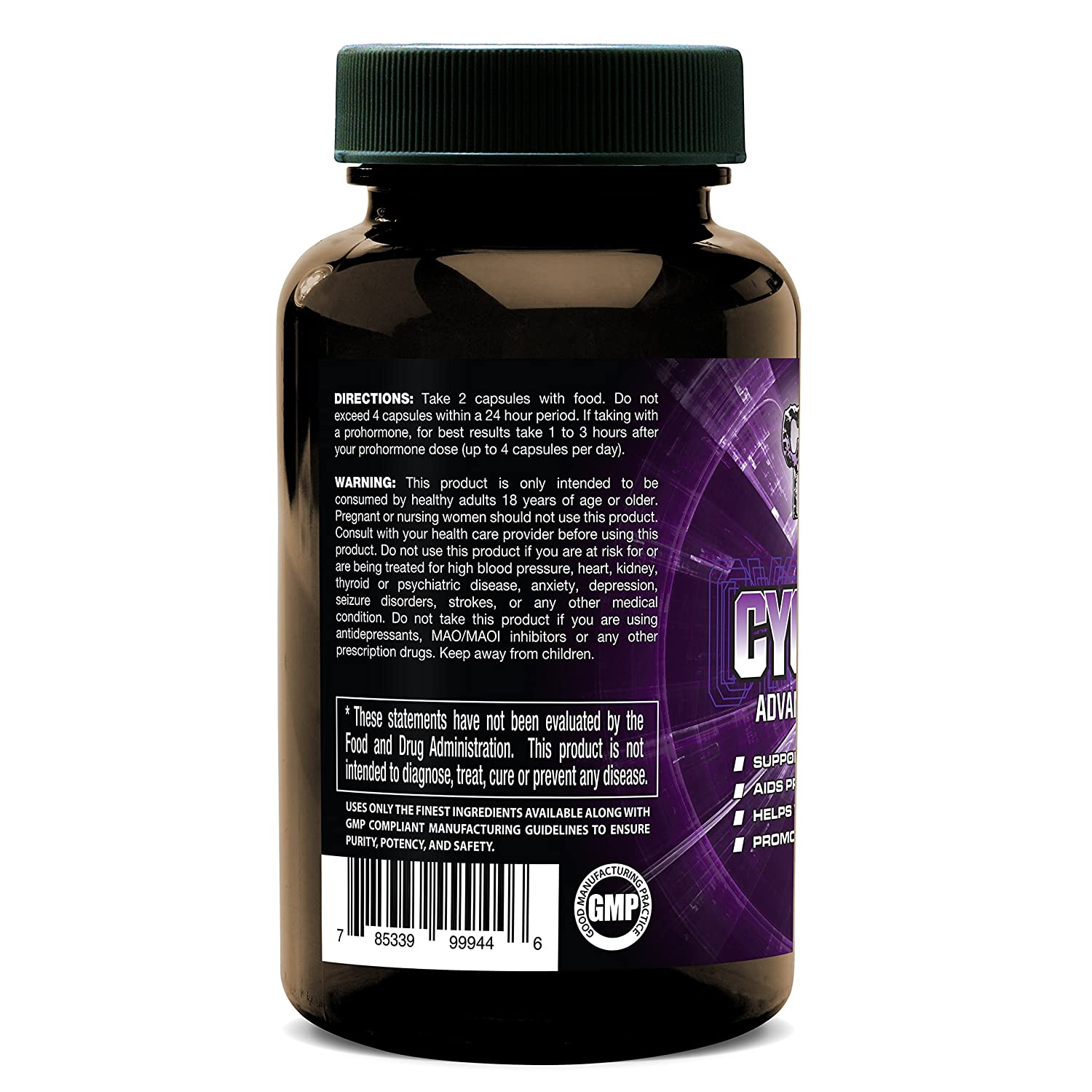 Cycle Support with Advanced Supplement CYCLE EDGE, Assist Liver and Organs,  Prostate,