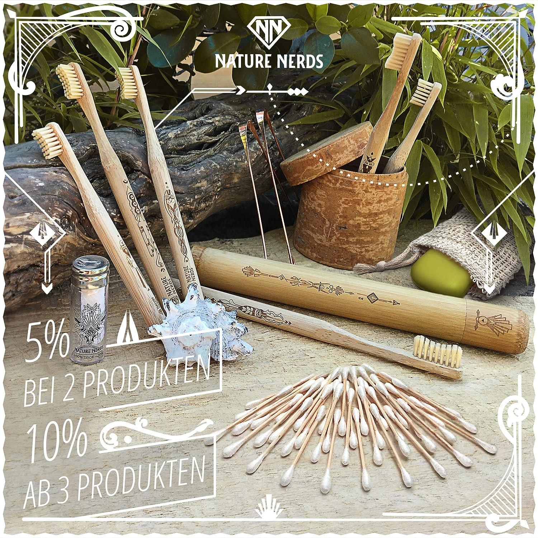 Nature Nerds - Set de cepillo de dientes pequeño de bambú ...
