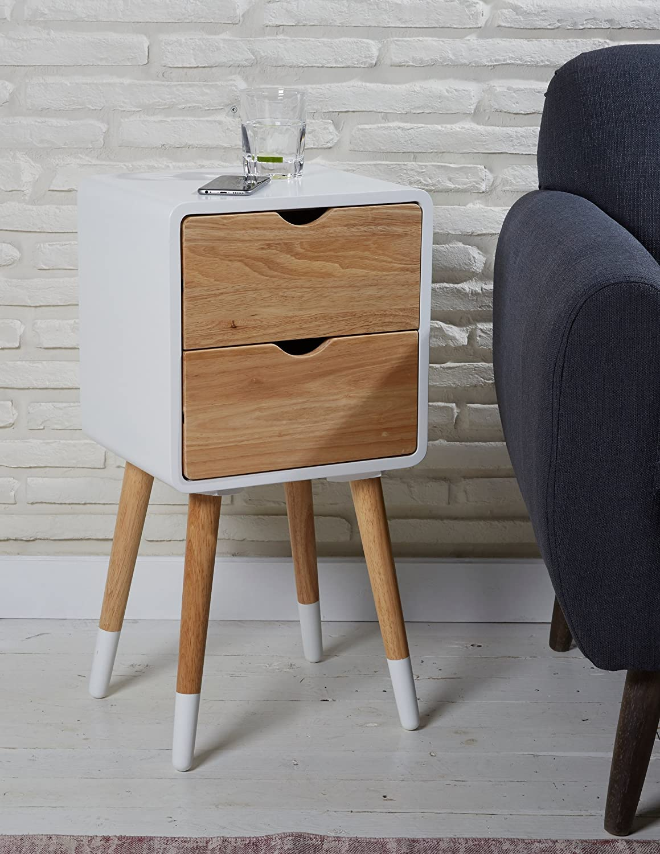 Table Blanc Chevet Green d'appoint de Spirit en Bois Table wOXZiuTPkl