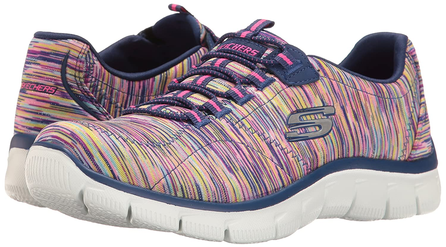 Skechers Sport Women's Empire Fashion Sneaker B01K4GL2D8 11 B(M) US|Navy/Multi