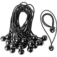 CoverUp! 25 zeildoekspanners - Veilige elastieken met haken voor optimaal vastzetten - Praktische elastische banden voor…