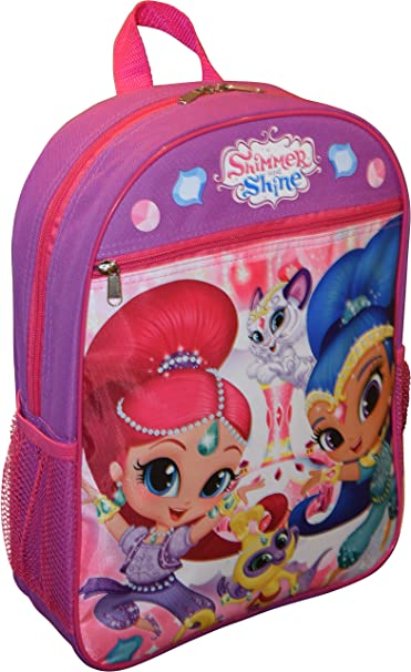 5b59e3681d61 Image Unavailable. Image not available for. Color  Nickelodeon Girl Shimmer  And Shine 15 quot  School Bag Backpack