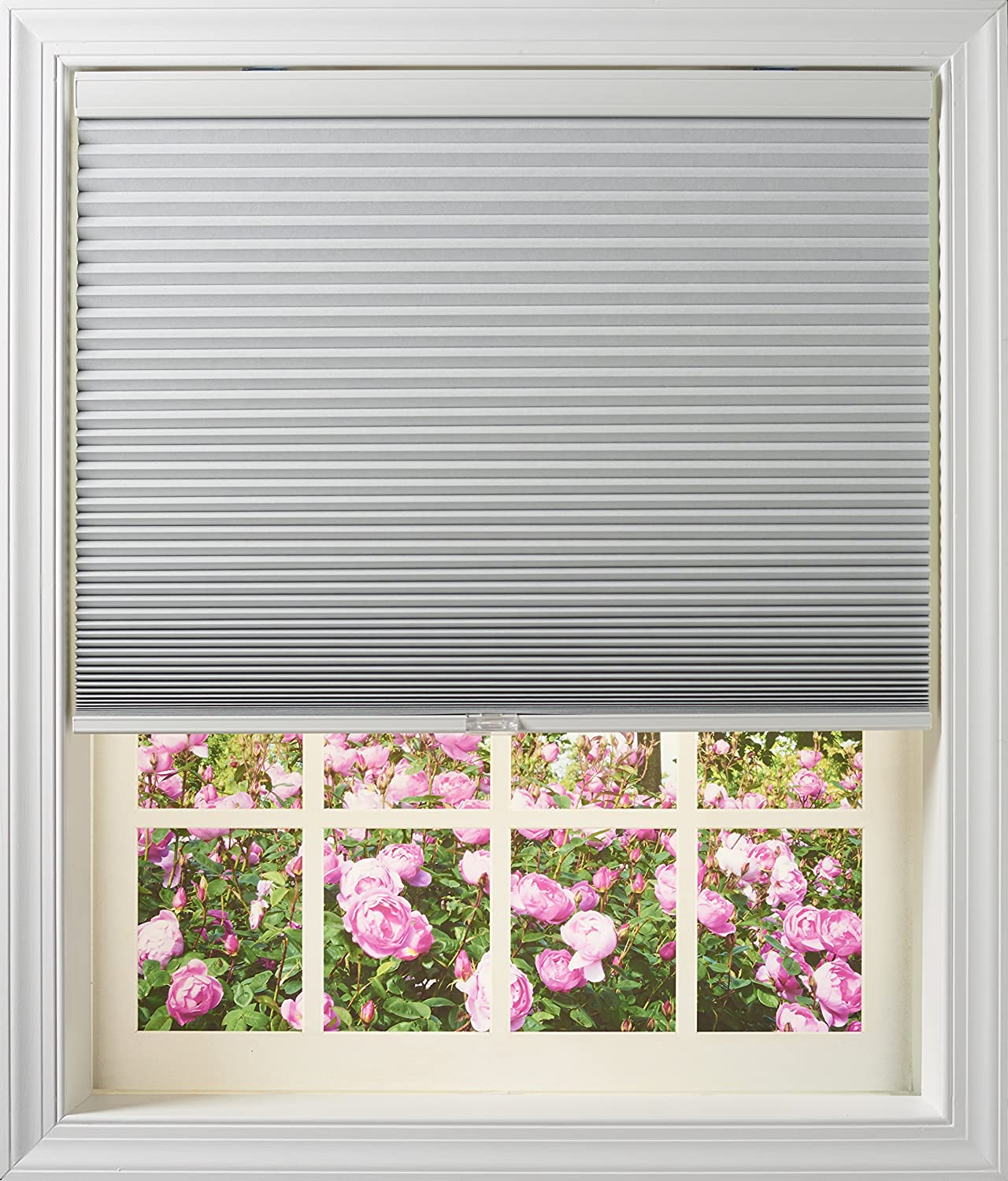 Room Darkening 28-1//2 x 64-Inch 6428.5NAWFORDCOT 28.5x64-Inch Outside Mount New Age Blinds Cordless Cellular Shade Cotton