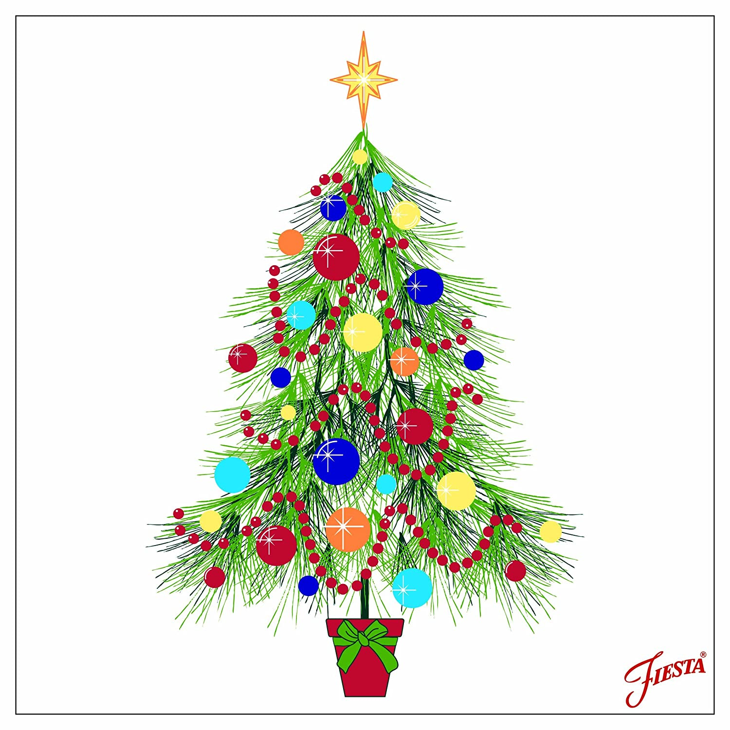 Thirstystone FFE30 Occasions Fiesta Christmas Tree Drink Coasters, Multicolor