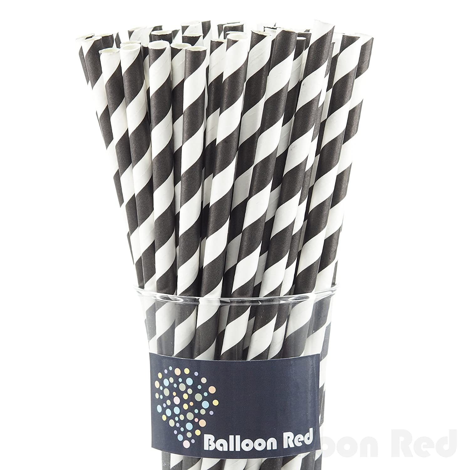 black & white straws for Football Party by BellaGrey Designs