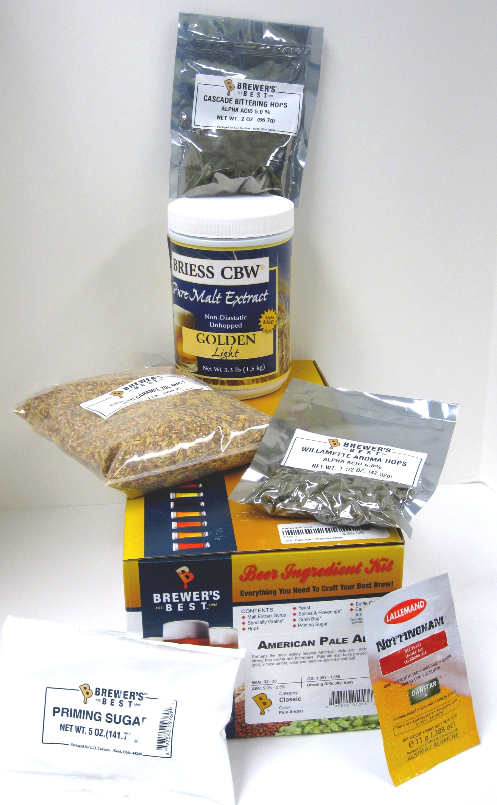Brewers Best American Pale Ale Home Brewing Ingredient Kit