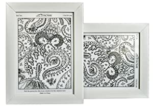Quite So Home Picture Frame (5x7, White) Set of 2
