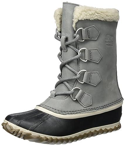 Sorel Caribou Slim Gris - Chaussures Bottes de neige Femme