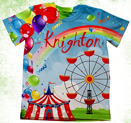 Amazon Personalized Carnival Birthday Shirts Going To The Fair Custom Circus T Shirt Party