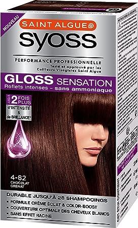 Tinte permanente Syoss Gloss Sensation, 4.82 Chocolate granate, 67 ml