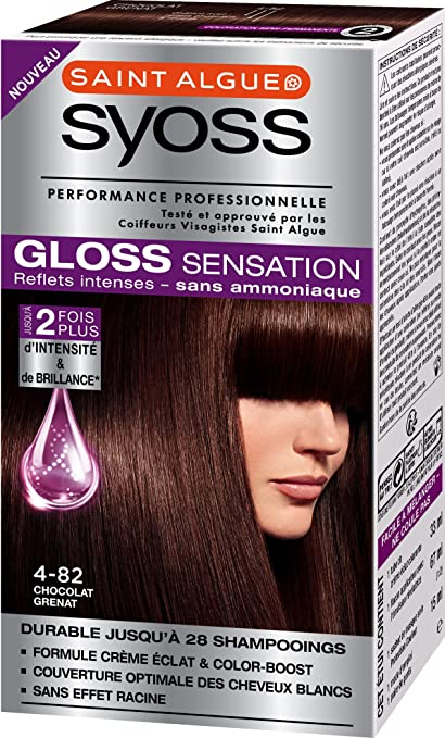 Tinte permanente Syoss Gloss Sensation, 4.82 Chocolate ...