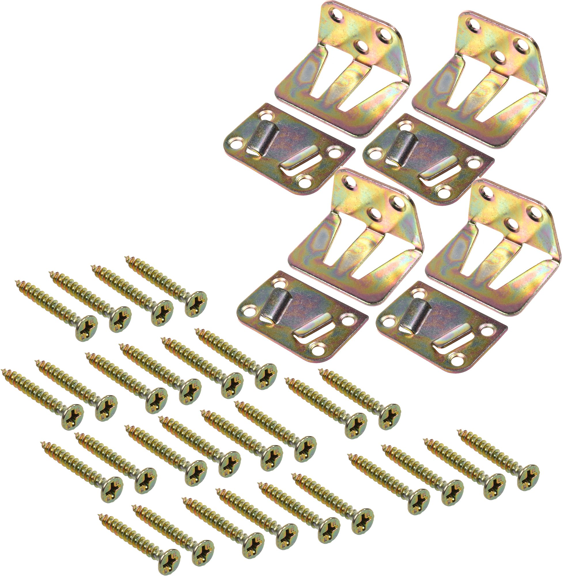 BCP 4 Sets Wood Bed Mattress Support Metal Fastener, Screw Included by BCP (Image #1)