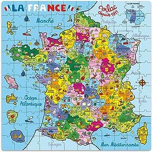 Vilac 2603 - Puzzle de Mapa de Francia en maletín (144 Piezas): Amazon.es: Juguetes y juegos