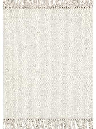 Linie Design Rainbow Wool Rug White 90x160 Cm Amazon Co Uk Kitchen