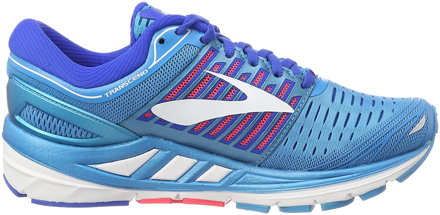 8a7c8ea91461 Brooks Transcend 5 Chaussures de Running Femme Bleu Blue Pink White ...